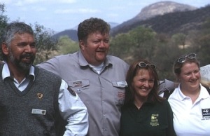 Sean with fellow rangers and the fourth World Ranger Congress of the International Rangers Federation in 2003, at Wilson's Promontory National Park, Australia