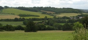 View of the Chilterns from West Wycombe hill
