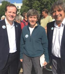 Charlie Elphicke (left) and Graham Smith, group publicity officer (right)