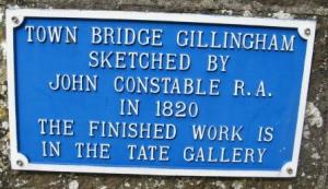 Town bridge sign